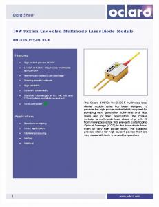 10W 9xxnm Uncooled Multimode Laser Diode Module