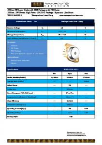 1550nm 2W Laser Diode with TO3 Package with FAC Lens