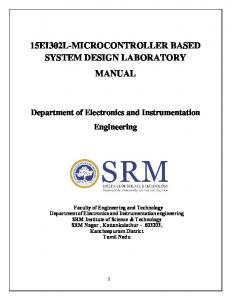 15EI302L-MICROCONTROLLER BASED SYSTEM DESIGN …
