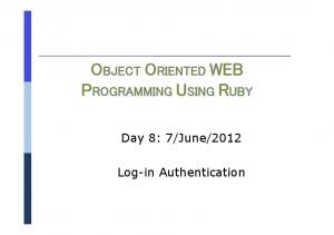 2012 Log-in Authentication
