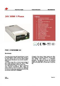 24V 300W 1 Phase Features