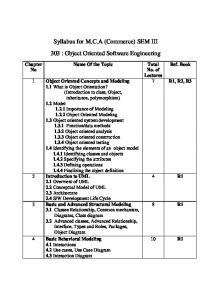 303 Object Oriented SW Engineering
