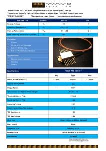 760nm~770nm 1W~1.5W Fiber Coupled LD with 14-pin …