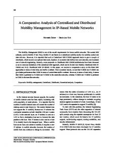 A Comparative Analysis of Centralized and Distributed