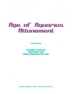Age of Aquarius Attunement
