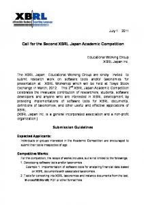 Call for the Second XBRL Japan Academic Competition