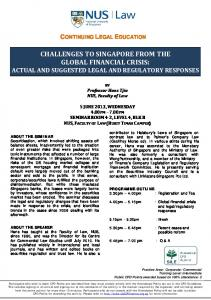 CHALLENGES TO SINGAPORE FROM THE GLOBAL …