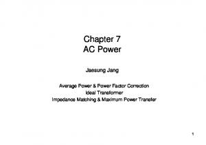 Chapter 7 AC Power