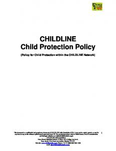 CHILDLINE Child Protection Policy
