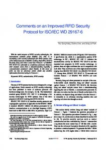 Comments on an Improved RFID Security Protocol for …