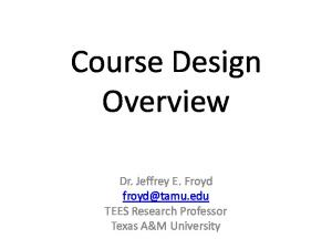 Course Design Overview