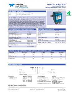 CS-47 COAX SWITCHES High Power DC–12 GHz
