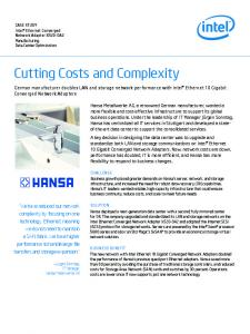Cutting Costs and Complexity