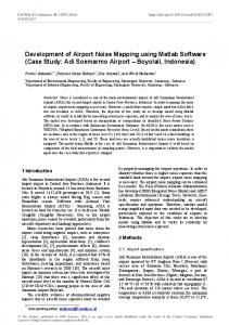 Development of Airport Noise Mapping using Matlab Software