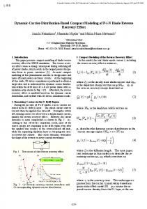 Dynamic-Carrier-Distribution-Based Compact Modeling of P-i