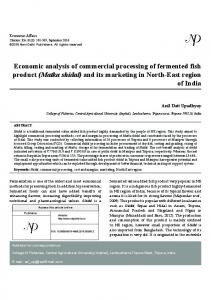 Economic analysis of commercial processing of fermented
