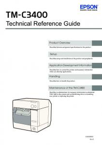 EPSON TM-C3400 Technical Reference Guide