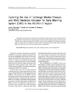 Exploring the Use of Exchange Market Pressure and RMU