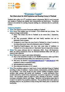 Fact Sheet about the 2010 Population and Housing …