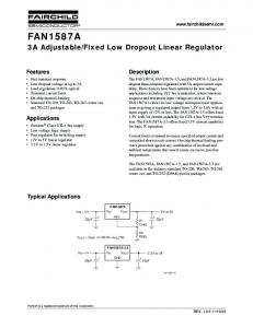 Fixed Low Dropout Linear Regulator