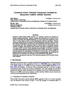 Geometry-Aware Principal Component Analysis for …