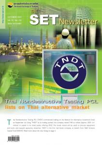 hai Nondestructive Testing PCL (TNDT) commenced trading …