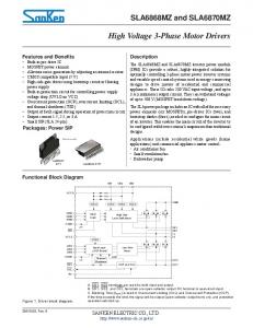 High Voltage 3-Phase Motor Drivers