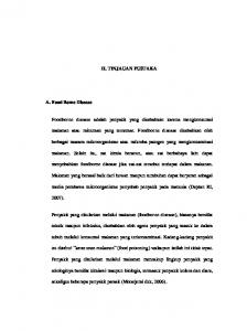 II. TINJAUAN PUSTAKA A. Food Borne Disease