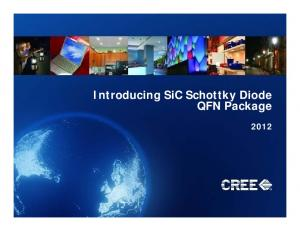 Introducinggy SiC Schottky Diode QFN Package