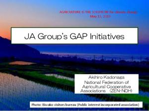 JA Group's GAP Initiatives