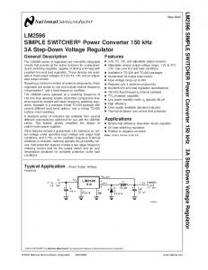 LM2596 SIMPLE SWITCHER Power Converter 150 kHz3A …
