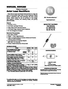 MBR350, MBR360 Axial Lead Rectifiers