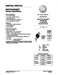 MBR735, MBR745 SWITCHMODE Power Rectifiers