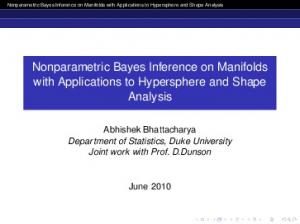 Nonparametric Bayes Inference on Manifolds with