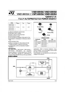 'OMNIFET II': fully autoprotected Power MOSFET