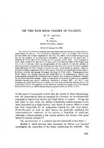 On the pair bond theory of valency
