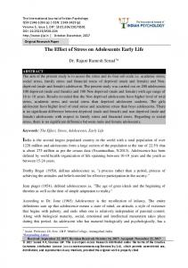Original Research Paper The Effect of Stress on