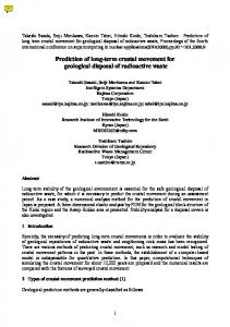 Prediction of long-term crustal movement for geological