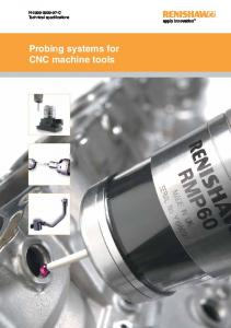 Probing systems for CNC machine tools – Technical
