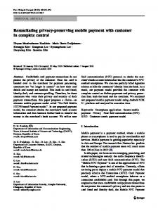 Resuscitating privacy-preserving mobile payment …