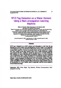 RFID Tag Detection on a Water Content Using a Back