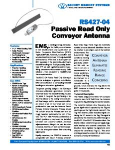 RS427-04 Passive Read Only Conveyor Antenna
