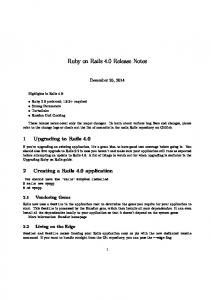 Ruby on Rails 4.0 Release Notes
