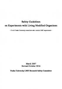 Safety Guidelines on Experiments with Living Modified