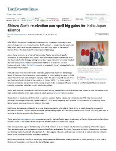 Shinzo Abe's re-election can spell big gains for India-Japan