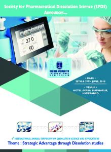 Society for Pharmaceutical Dissolution Science (SPDS