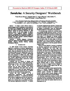 Suraksha: A Security Designers' Workbench