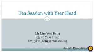 Tea Session with Year Head