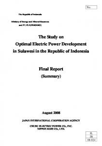 The Study on Optimal Electric Power Development in