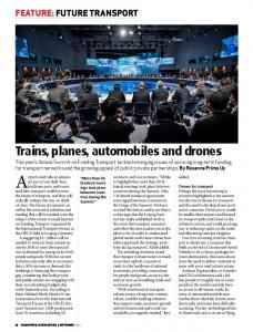 Trains, planes, automobiles and drones